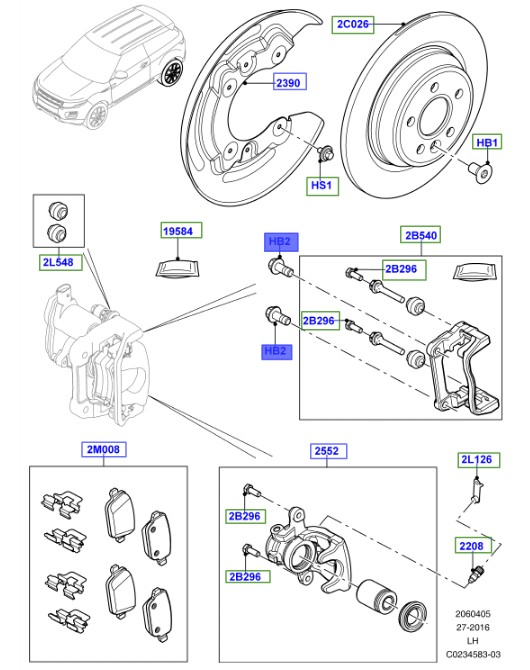 land rover genuine bolt- lr027133